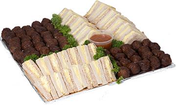 Sandwich And Meatball Platter | Sandwich Baron
