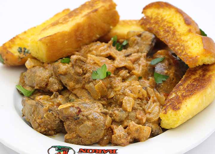 Creamy Chicken Livers Lunch Box | Sandwich Baron