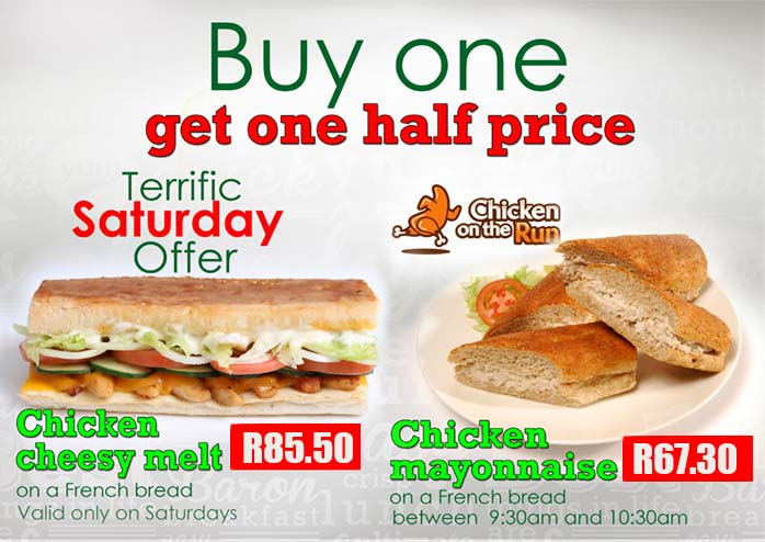 Buy One Get One Half Price Poster | Sandwich Baron